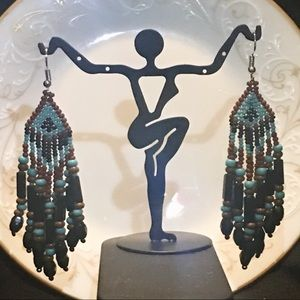 Vintage Handmade Bead Drop Earrings
